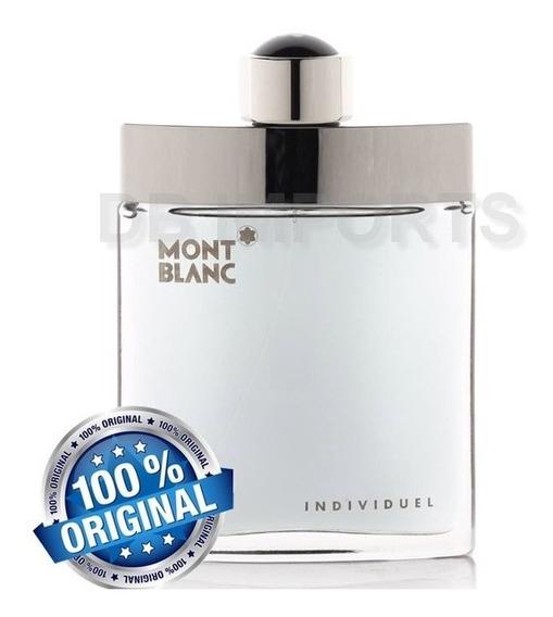 Perfume Mont Blanc Individuel Edt 75ml A Pronta Entrega