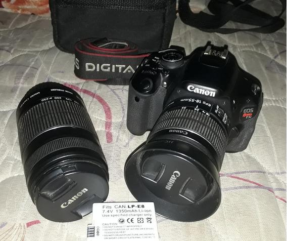 Câmera Canon T3i Mais Lente 18-55 E 55-250 Parasol 2 Bateria