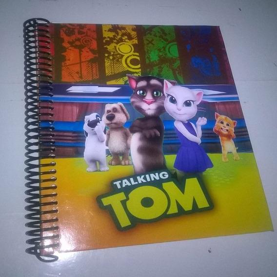 Talking Tom Cuaderno Personalizado. (anillo Metalico)
