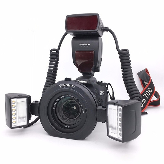 Flash Twin Yongnuo Yn 24ex Para Canon P/ Fotografia Macro
