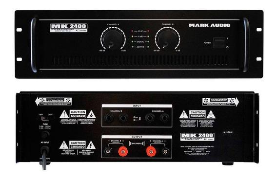 Amplificador De Potencia Profissional Mark Audio Mk2400 400w