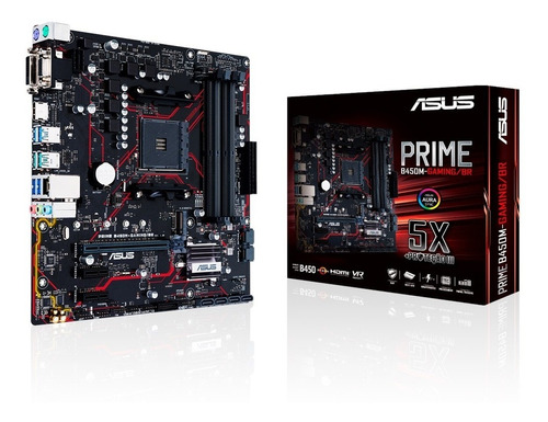 Placa Mãe Asus Prime B450m Gaming/br Amd Am4 Matx Ddr4