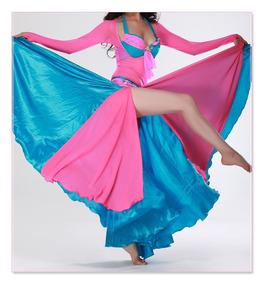 Traje Fucsia Turquesa Para Danza Árabe. Bellydance.