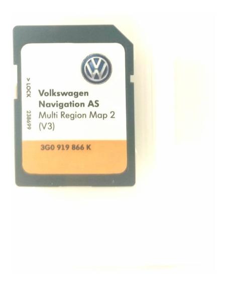 Cartão De Gps Multimídia Vw V3 3g0919866k Original Novo