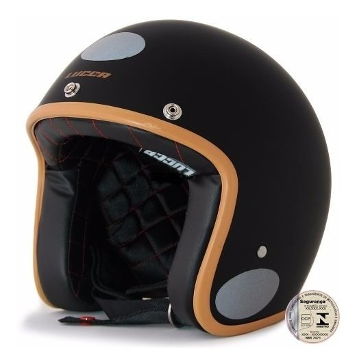 Capacete Lucca Custom + 2 Viseiras Bolha - Black Caramel