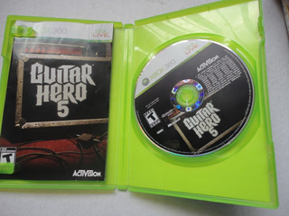 Guitar Hero 5 Xbox 360 Completo Caja Y Manual Original!!