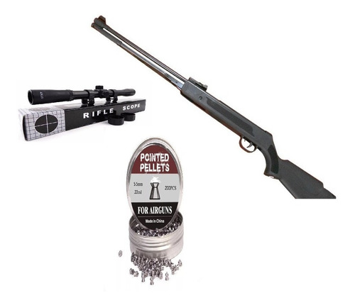 Rifle A Postón 5,5 Wf600p + Mira Telescopica + 250 Postón