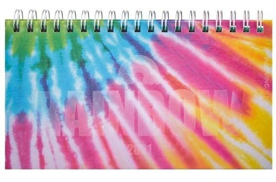 Agenda 2021 Espiral 17x9,2cm S/vista Pocket Batik Mooving