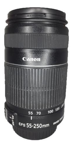 Lente Canon Zoom Ef-s 55-250mm 1:4-5.6 Is Ii Usada Perfeita
