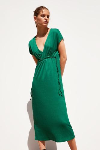 Vestido Z.a.r. Estructura Verde Talle M
