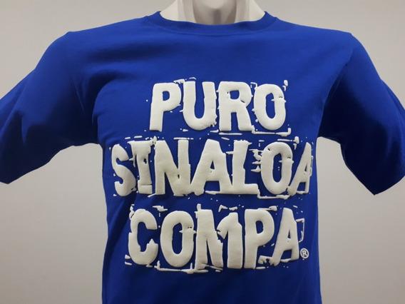 2 Playeras Puro Sinaloa Compa Frase Psc Color A Rey Culiacán