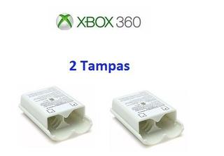Xbox 360 - 2 Tampas Porta Pilhas Brancas - Frete R$ 15,00