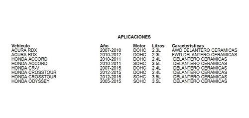 Balatas Delantero Honda Odyssey 2015
