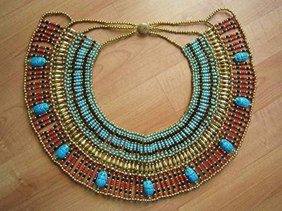 Collar Cleopatra Antiguo Traje De Reina De La Danza Oriental