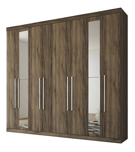 Ropero Placares Master Vip 8 Puertas 8 Estantes Con Espejo