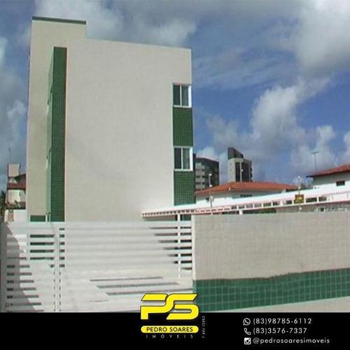 Apartamento Com 2 Dormitórios À Venda, 62 M² Por R$ 185.000,00 - Camboinha - Cabedelo/pb - Ap3746