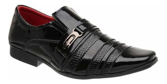 Sapato Social Masculino Exclusivo Verniz - Preto 5010
