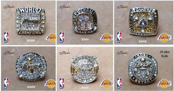Lakers Los Angeles Anillos Campeonato 2000,01,02,09,10,kobe