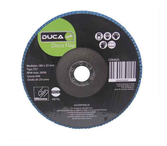 Disco Flaps 180 X 22,2 Ziriconia Grano 40 Caja 25 Unidades