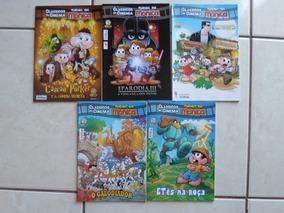 Lote Com 5 Gibis Clássicos Do Cinema Turma Da Mônica Panini