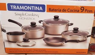 Bateria De Cocina Simple Cooking 9 Piezas Tramontina