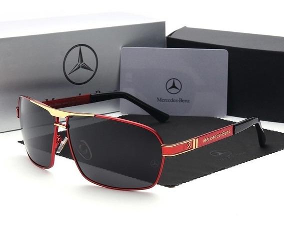 Óculos De Sol Mercedes Benz Red Lentes Polarizadas Mb722 65