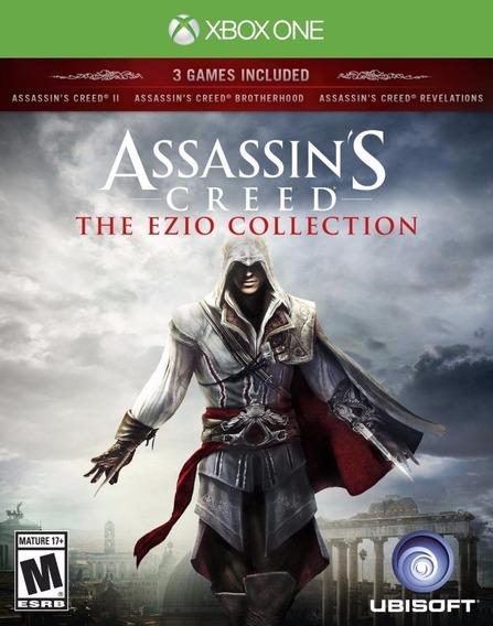 Jogo Mídia Física Assassins Creed Ezio Collection Xbox One