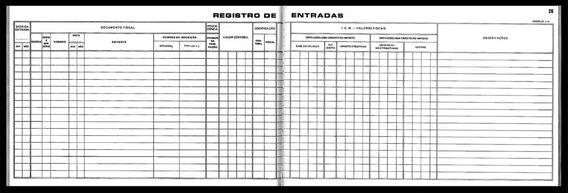 Livro Registro Entrada Icms 50fls. Mod.1a Sao Domingos C/10