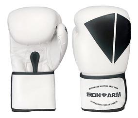 Luva De Boxe Ironarm Premium 12 Oz White/black