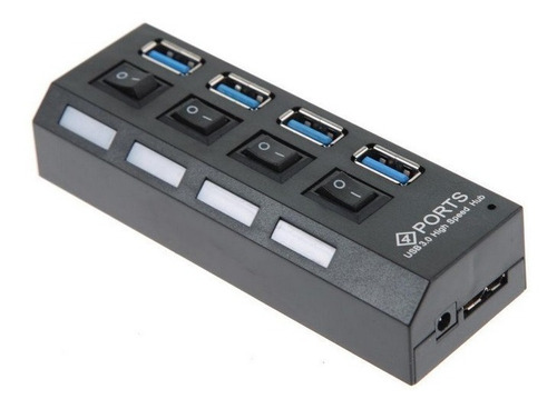 Hub / Switch Usb 3.0 - 4 Puertos Interruptor On / Off 5 Gbps