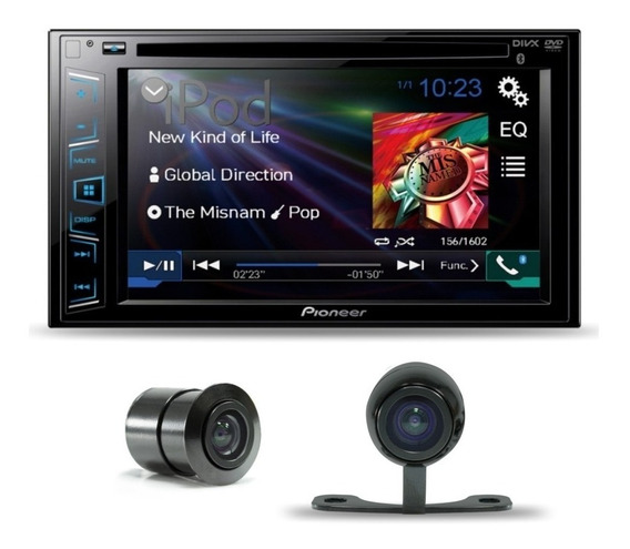 Dvd Automotivo Pioneer Avh-208bt 2din Multimidia + Camera Ré