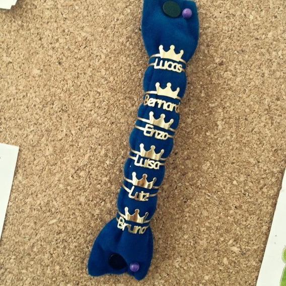 Anel De Nome Personalizado Com Coroa Prata 925