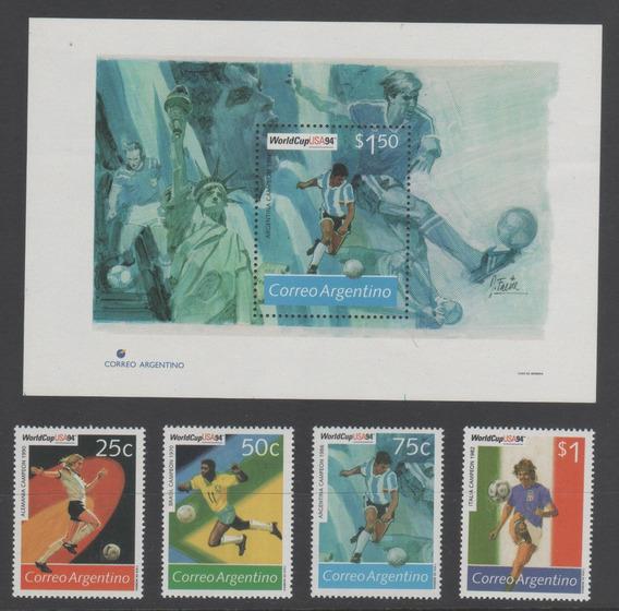 Argentina 1994 Mundial Futbol Usa Hb 107 + Gj 2664 A 67 Mint