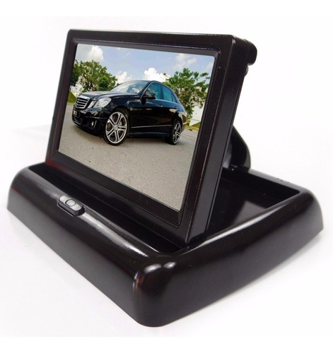 Monitor Automotivo 4,3'' Tela Retrátil Lcd Tft Veicular Dvd