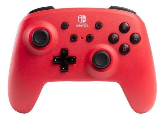 Controle joystick PowerA Enhanced Wireless Controller for Switch vermelho