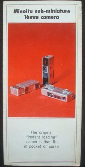 Folheto Promocional Das Cameras Minolta 16mm