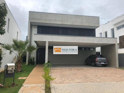 Casa Com 4 Dormitórios À Venda, 335 M² Por R$ 2.440.000,00 - Alphaville Nova Esplanada I - Votorantim/sp - Ca0854
