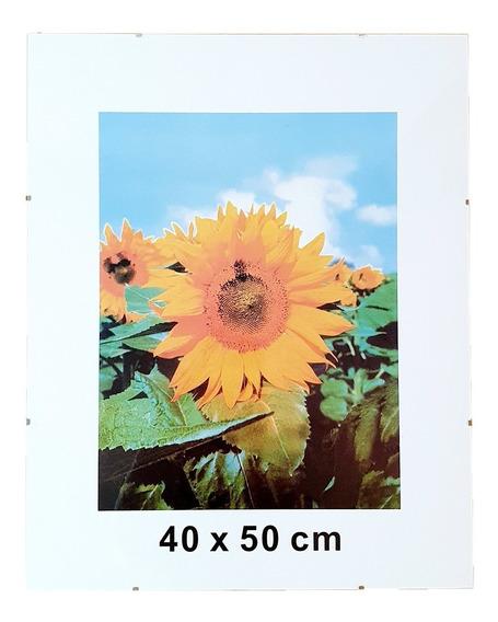 Portarretrato Clip 40x50 De Vidrio Sin Marco Para Colgar