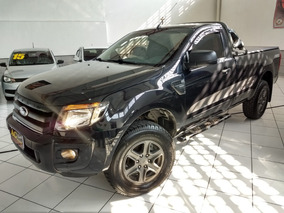 Ford Ranger Sport Xls Cab. Simples 2015 Preta 2.5 Flex Top