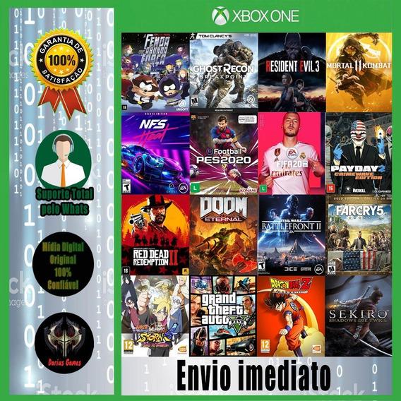 Pacote 5 Jogos Xbox One Mídia Digital-lista Com +150 Jogos