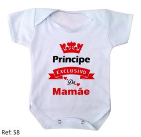 5347b475ad Body Principe Da Dinda - Bodies de Bebê no Mercado Livre Brasil