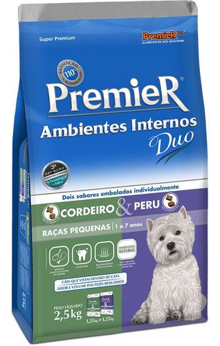 Ração Premier Duo Ambientes Internos Cães Adultos Peq. 2,5kg