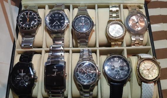 Coleção De Relógios, Várias Marcas!!! Imperdível!