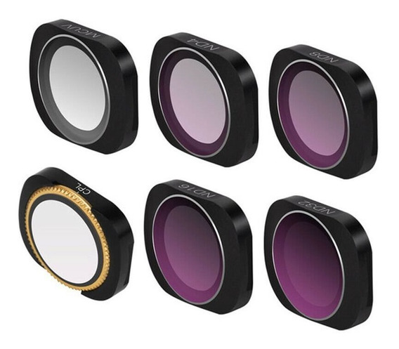 Kit Filtros Para Osmo Pocket Uv Cpl Nd Com Case E Flanela