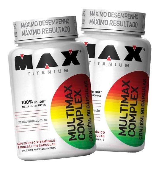 2 X Multivitaminico Multimax Complex 90 Cáps - Max Titanium