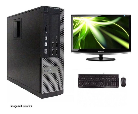 Computador Desktop Dell 7010 I7 4gb 240ssd Monitor 18