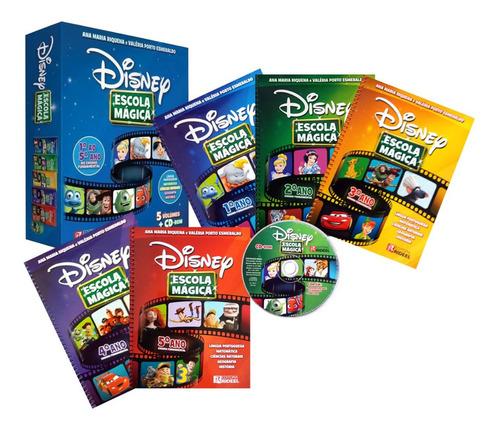Coleção Disney Escola Magica 1º Ao 5º Ano + Brinde Pedagogia
