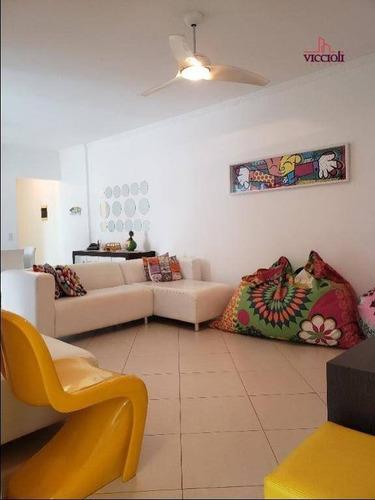 Apartamento Com 3 Dormitórios À Venda, 104 M² Por R$ 600.000,00 - Canto Do Forte - Praia Grande/sp - Ap2090