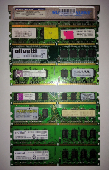 Memorias Para Pc Ddr2, 2 Gb Kingston Kvr800d2n6/2g