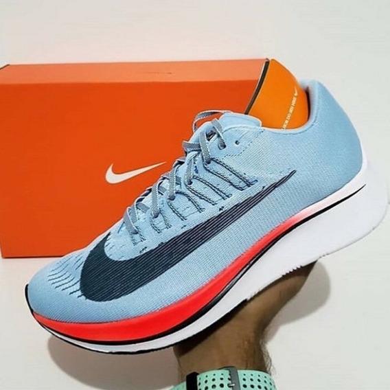 Tênis Nike Zoom Fly Azul E Laranja Masculino Original